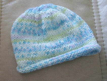 Itty bitty hat for baby bailey